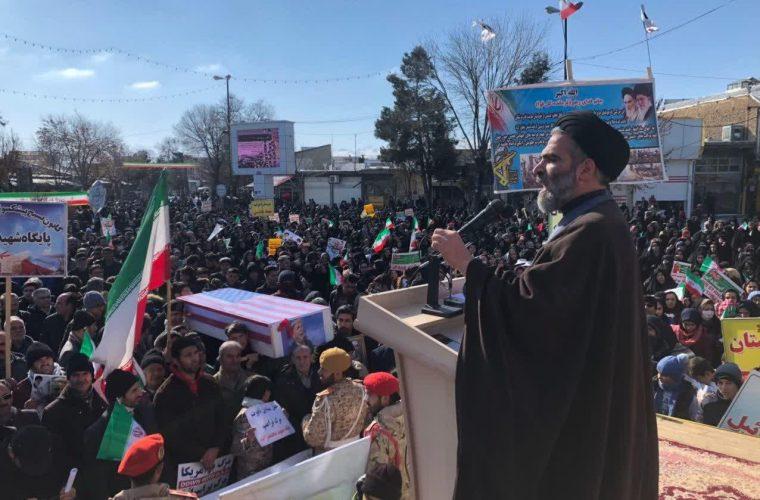 گزارش تصویری از راهپیمایی پرشور مردم شهرستان سلماس در ۲۲ بهمن ۹۸