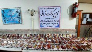 توزیع بیش از۱۵۰۰بسته گوشت قربانی بین نیازمندان سلماسی
